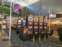 Slot machines. Gambling slot machines at the Las Vegas International Airport in Nevada Stock Image