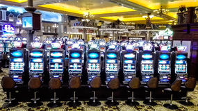 Slot machines ina casino Royalty Free Stock Image