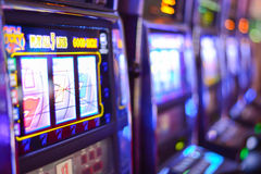 Slot machines in Las Vegas Royalty Free Stock Photography
