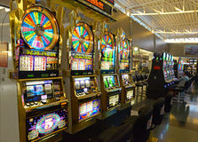 Slot machines in Las Vegas, Nevada royalty free stock photography
