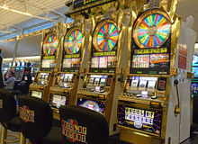 Slot machines in Las Vegas, Nevada royalty free stock images