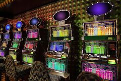 Slot machines at liner Costa Luminosa Stock Image
