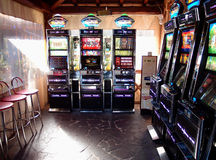 Slot machines room Stock Image