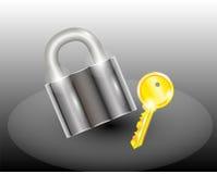 Slot met sleutel Royalty-vrije Stock Foto