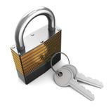 Slot met sleutels Stock Afbeelding