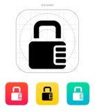Slot met wachtwoordpictogram. vector illustratie