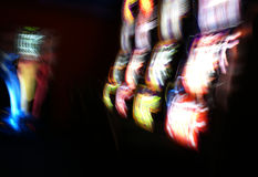 Slot in motion fruit machine royalty free stock photography