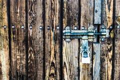 Slot op de houten deur Royalty-vrije Stock Foto's