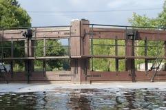 Slot op de rivier in Polen Royalty-vrije Stock Afbeeldingen