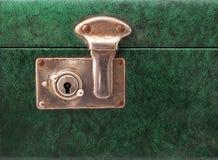 Slot op een uitstekende koffer Stock Afbeelding