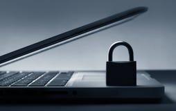 Slot op laptop toetsenbord royalty-vrije stock afbeelding