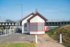 Slot PRINSBERNHARD SLUIS in Nederland stock afbeelding