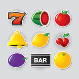 Slot symbols set 1. Stock Images