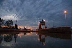 Slot tijdens zonsopgang Royalty-vrije Stock Foto