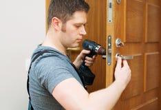 Slot van de mensen het veranderende deur royalty-vrije stock foto's