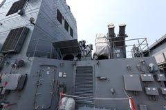 Slot van de schip anti-ship raket Stock Foto's