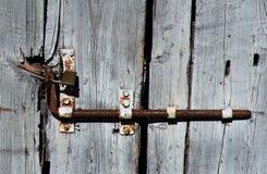 Slot van een oude houten deur royalty-vrije stock foto's