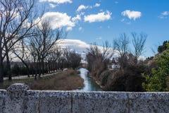 Slot van het kanaal van Castilla stock foto's
