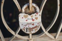 Slot van liefde - samen voor altijd Stock Foto's