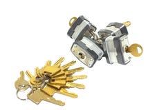 Sloten en sleutels Royalty-vrije Stock Fotografie