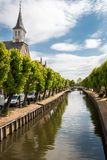 Sloten a mediaval city in the Netherlands. Province Friesland, region Gaasterland royalty free stock photos