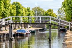 Sloten a mediaval city in the Netherlands. Province Friesland, region Gaasterland stock photos