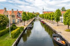 Sloten a mediaval city in the Netherlands. Province Friesland, region Gaasterland stock images