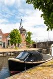 Sloten a mediaval city in the Netherlands. Province Friesland, region Gaasterland stock photo
