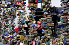 Sloten van liefde Stock Foto's