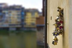 Sloten van liefde Stock Foto