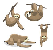 Sloth Cartoon Vector Illustration 2. Animal Cartoon EPS10 File Format Royalty Free Stock Photo