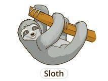 Sloth cartoon vector illustration Stock Photography