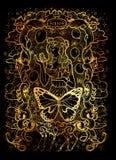 sloth El Acedia latino de la palabra significa la desesperación Concepto de siete pecados mortales en fondo negro libre illustration