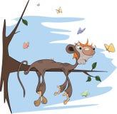 Sloth monkey cartoon Stock Photo