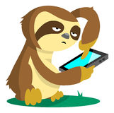 Sloth On Phone Royalty Free Stock Images