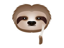 Sloth thoughtful Stock Photo