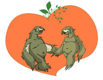 Sloths in love Stock Photos
