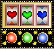 Slotmachine con los corazones libre illustration