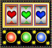 Slotmachine with hearts Royalty Free Stock Photo