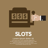 Slots. Hand Playing Slots Vector Illustration vector illustration