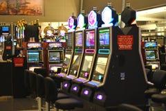Slots in the airport McCarran  in Las Vegas, Nevada Royalty Free Stock Photos