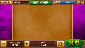 Slots game background Royalty Free Stock Image