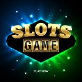 Slots game casino banner. Illustration vector illustration