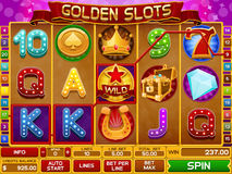 Slots game template Royalty Free Stock Image
