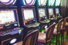 Slots in Las Vegas Casino Stock Photos