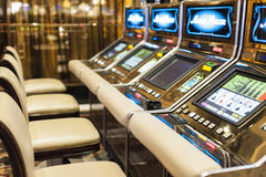 Slots in Las Vegas Casino, Nevada Royalty Free Stock Images