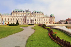 Slott övreBelveder, Wien, Österrike Fotografering för Bildbyråer