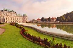 Slott övreBelveder, Wien, Österrike Arkivfoto