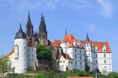 Slott Albrechtsburg Meissen, Tyskland Arkivfoton