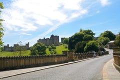Slott Alnwick, England Arkivbild